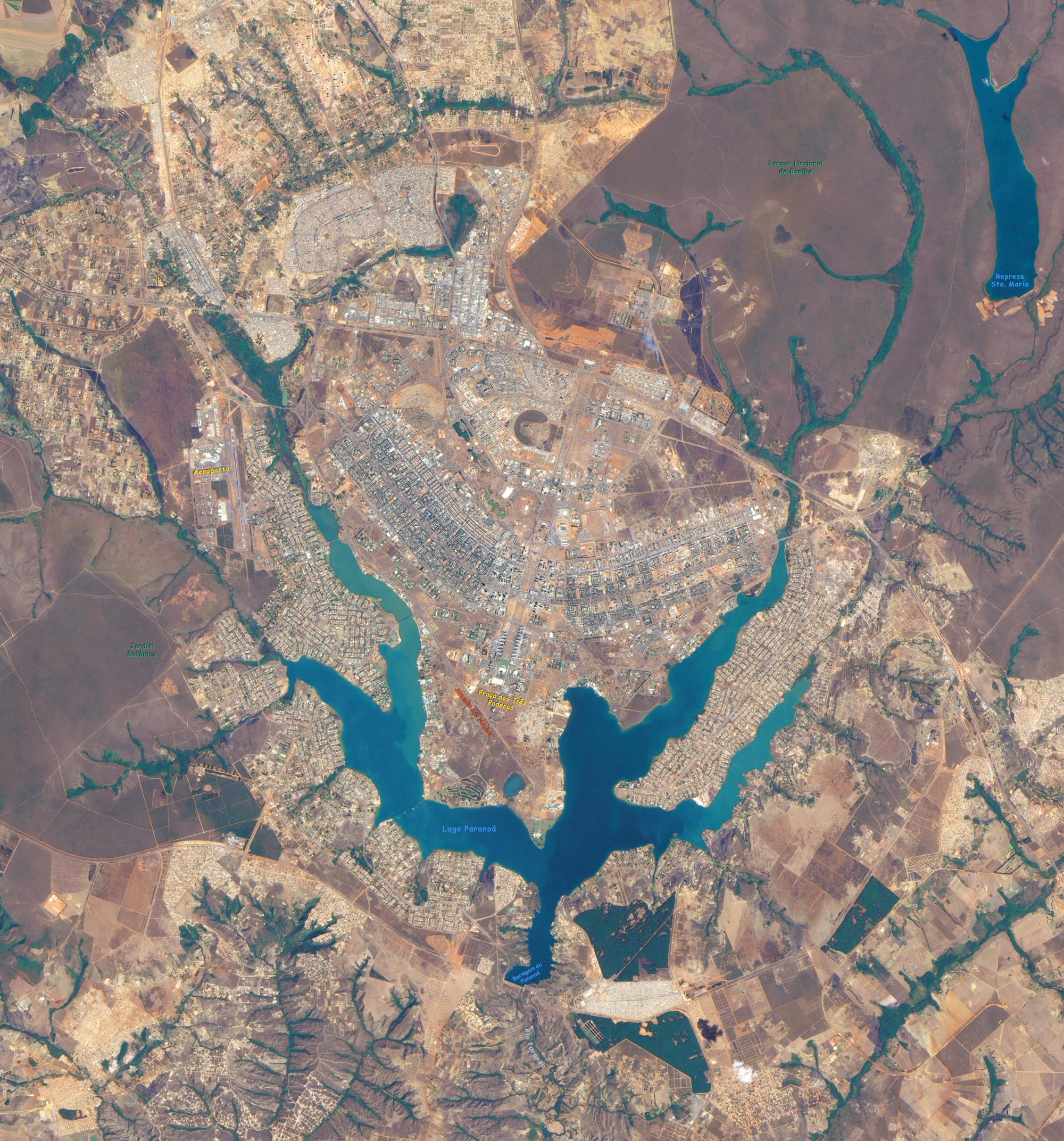 Mapas Distrito Federal  Brasilia DF