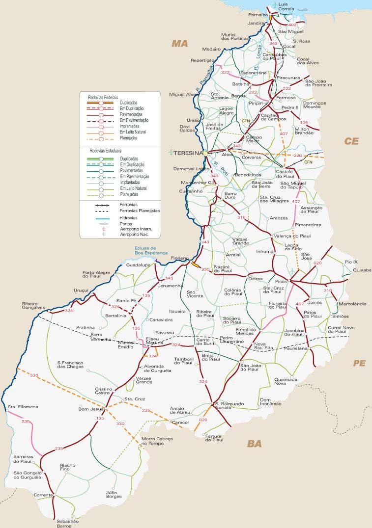 Mapa Piauí