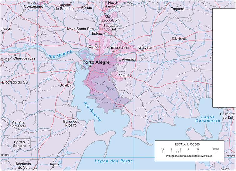 Mapa Porto Alegre RS