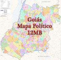Mapa Goias Goiania