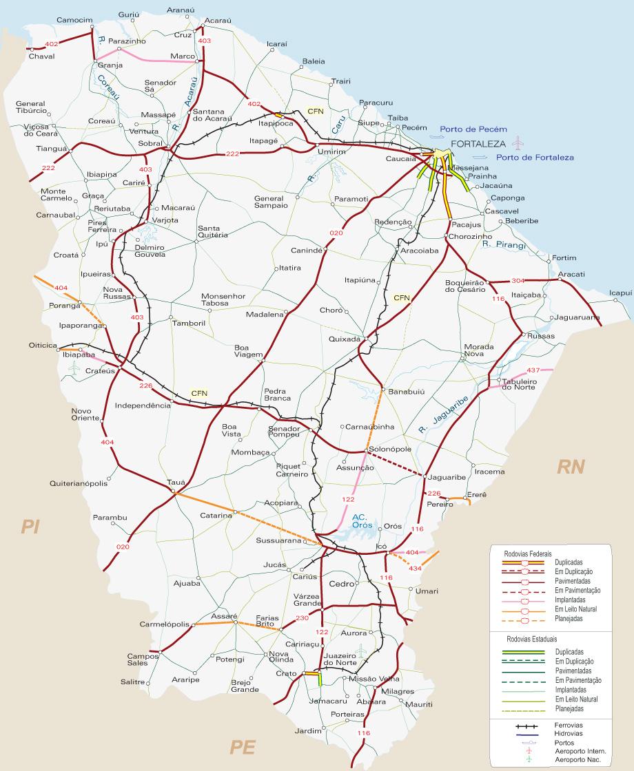 Mapa Ceara Fortaleza