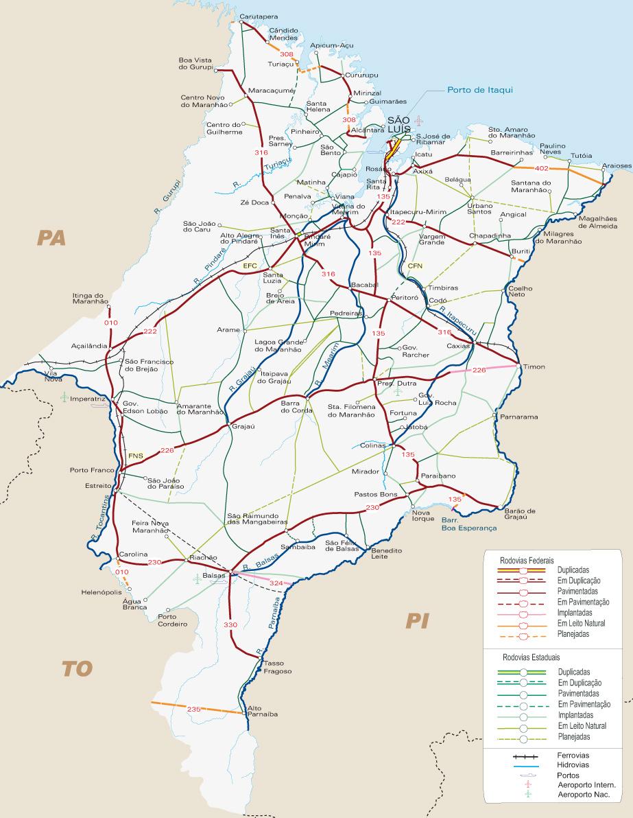 maranhão brasil mapa Mapa Maranhão   São Luis maranhão brasil mapa